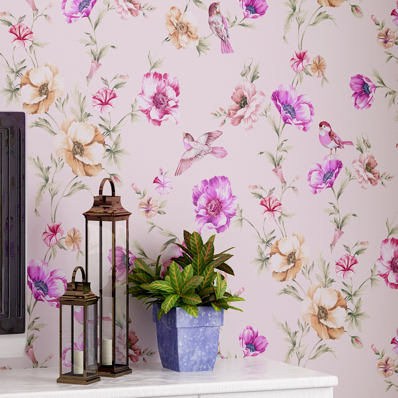 beibehang Modern European American garden flowers bird wall paper classic background wallpaper roll wallcovering papel de parede wallpaper modern anchos travelling boat modern textured wallcoverings vintage kids room wall paper papel de parede 53x1000cm