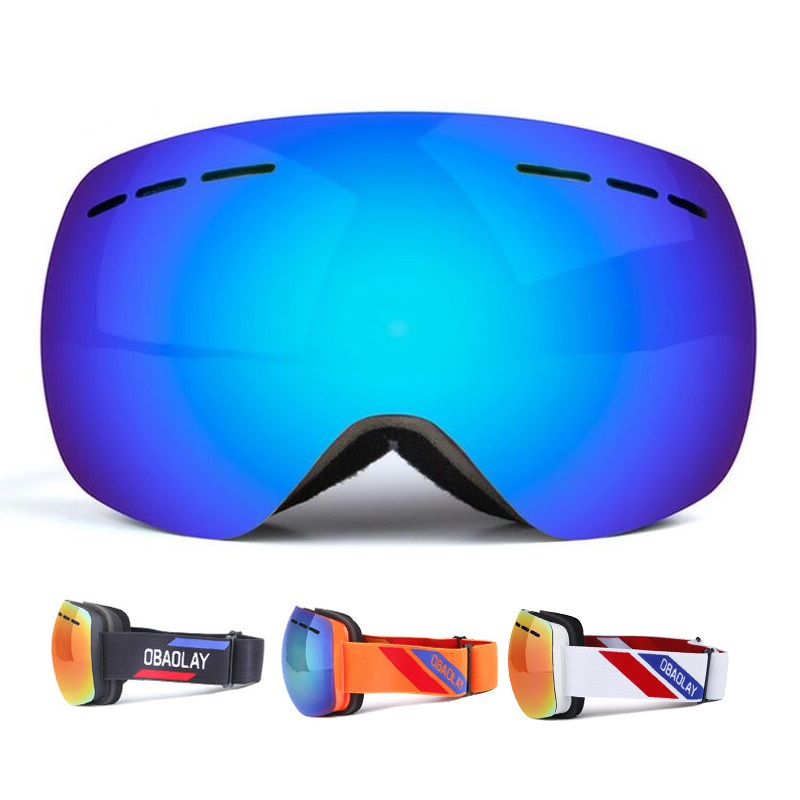 d4e621709810 Double Lens Ski Goggles UV400 Snowboard Winter Skiing Glasses for Men Women  Anti fog Snowmobile Mask Sport Adult Windproof-in Skiing Eyewear from  Sports ...