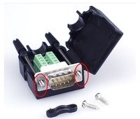 Gold Überzogene Solderless DB9 PIN Terminals Anschlüsse Kit Parallel Interface Adapter DIY DB9 Terminals rs232 rs485 9pins