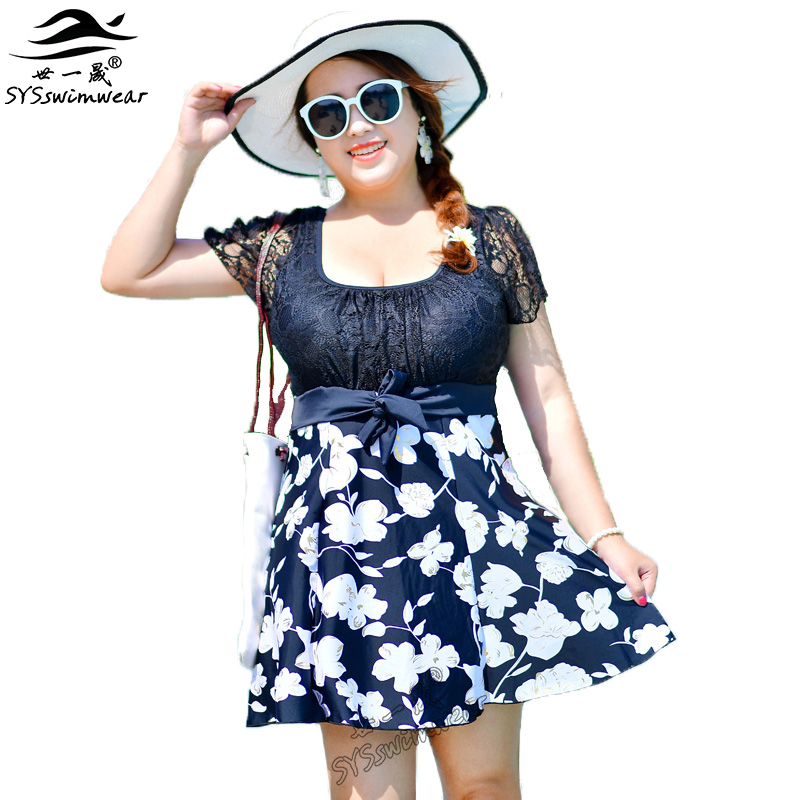 New Summer Beach Top Quality Plus Size Sexy Women One Piece Swimwear Floral & Solid Lace Patchwork Swimsuit Pool Bathing Suit new summer beach top quality plus size sexy women one piece swimwear floral