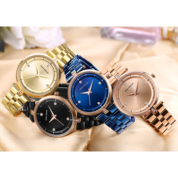 MINI FOCUS Women's Top Brand Luxury Stainless Steel Waterproof Ladies Quartz Wrist Watches 5