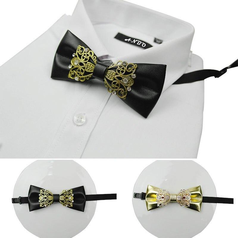 Konstruktiv Mode Gefälschte Kragen Hisdern Krawatten Strass Bogen Krawatten Leder Männer Luxus Männer Zubehör Herren Krawatten Set Reinigen Der MundhöHle.