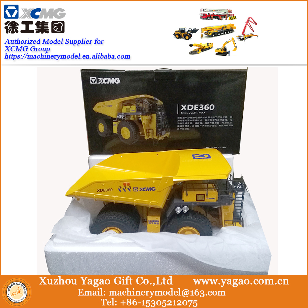 Mining Truck Mode 1:50 Scale XCMG XDE360 Mining Truck, Collection, Construction, match with XE7000 excavator, Fast free ship 1 35 xugong xcmg xe215c excavator alloy truck diecast model construction vehicles toy