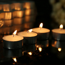 50pcs wedding party decorative candle Smokeless tasteless aluminum shell candles tealight home candle supplier decor