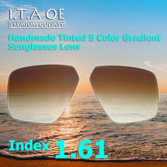 1.61 Индекс Прохладный Моды 5 Цветов Ручной Работы Тонированные Grident Солнцезащитные очки Оптические Линзы Для Очков Кадров Anti UV Scratch