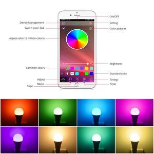 Image 4 - スマート E27 LED RGB RGBW RGBWW マジック電球ランプ 5 ワット 10 ワット 15 ワット 110 V 220 12V LED スポットライト + Ir リモートまたは Bluetooth 4.0 アプリ制御