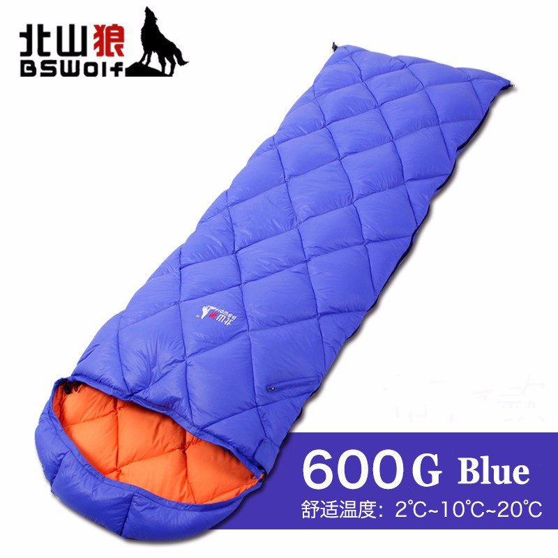 ФОТО Outdoor camping sleeping bag Duck down Removable interior envelop type Lightweight camping hiking comfortable lunch sleeping bag