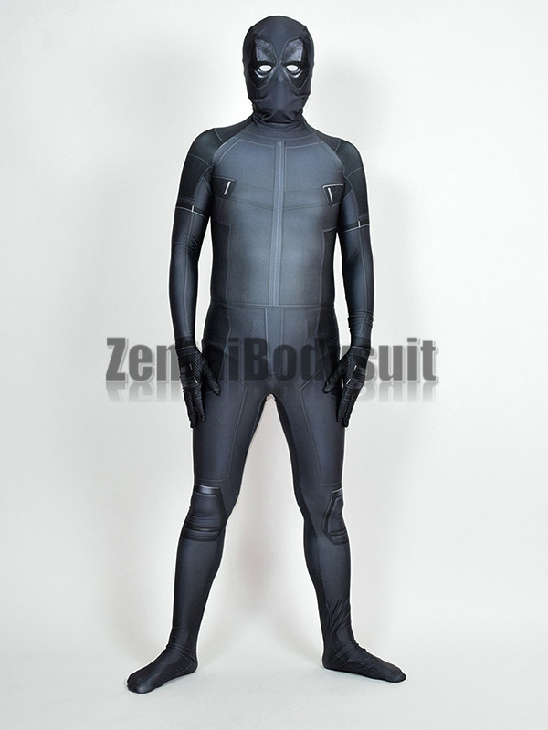 X-Force Deadpool Costume Grey Halloween X Force Deadpool Party Cosplay Suit