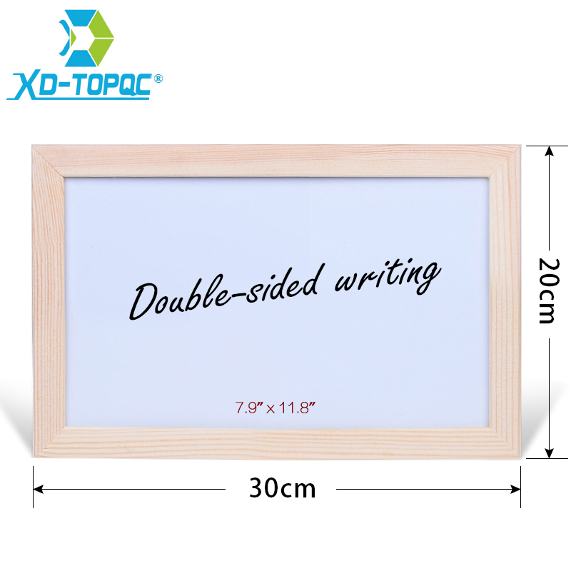 Double-sided Writing 20*30cm Dry Erase Whiteboard Original Pine Wood Frame White Board Magnetic Message Board For Notes WB40