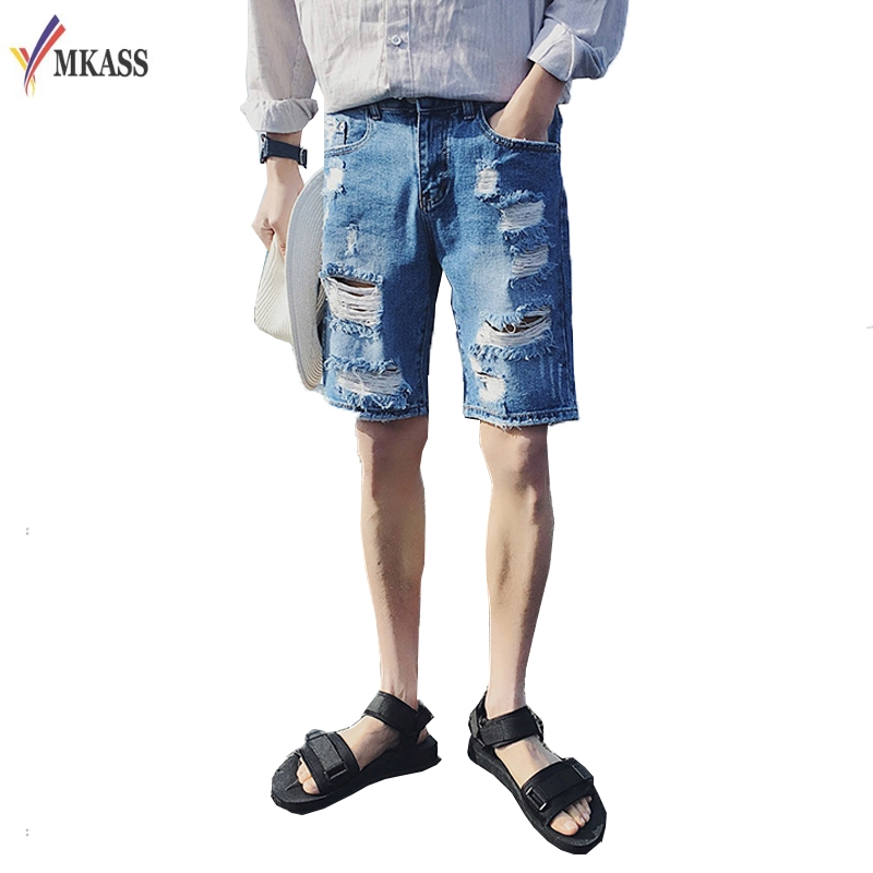 Knee Jean Shorts Promotion-Shop for Promotional Knee Jean Shorts ...