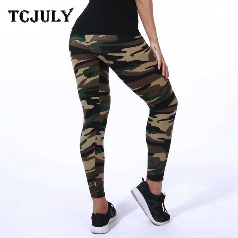 4b89c1b3cfaa9 ... TCJULY 2019 Style Camouflage Leggings Women Milk Silk Fabric Military Fitness  Leggings Push Up Skinny High ...