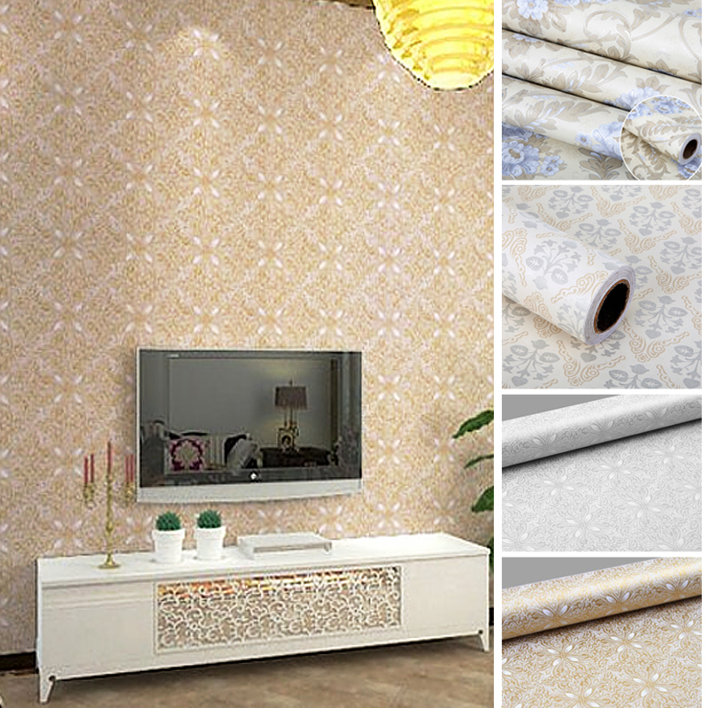 Flowers European Modern Self Self Adhesive Wallpaper For Lliving Room Home Decor Decor
