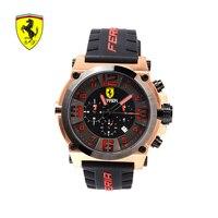 FERRARI модные брендовые мужские наручные часы Спортивные часы золотые из нержавеющей стали водостойкие Мужские кварцевые часы Relogio Masculino