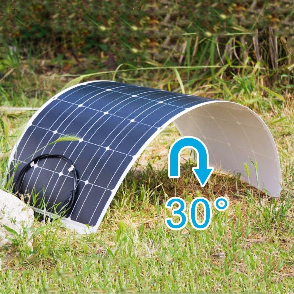 Dokio 2 uds 12V 12V 100W Flexible Panel Solar monocristalino para batería de coche y barco y casa 200w 300w 500w 1000w Panel Solar de China - 4