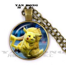 YANHONG 2019,Fashion is in vogue. Big Detective Bikachu, 25mm hand-made glass crystal necklace. Fashion Pendant Jewelry(China)