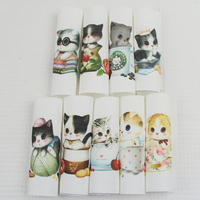 1 Pack 9pcs Handmade Cloth Art Of DIY Quilt Cotton And Linen Fabric Dyeing And Printing