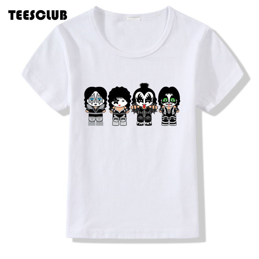 Girl Tops 2018 New Stormtroopers Fan Kiss Rock Band Print T shirt Children Summer Short Sleeve Tshirt Boys Baby Clothing женская футболка other 2015 3d loose batwing harajuku tshirt t a50