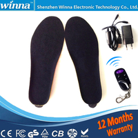 Electric Heating Warmer Insoles Winter Free Shipping Super Warm Boots Remote Control For Shoes Woman And