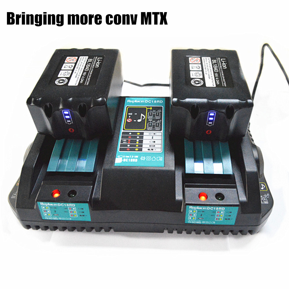Li-ion Electric Power Tool Battery Double Charger Rapid Charging Electric Tool For Makita Battery 14.4V 18V with USB Port bl1013 electric tool battery 10 8v max 12v 2000mah for makita bl1014 electric power tool battery li ion power tool battery