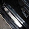 Accesorios interiores para dodge caliber cubierta protectora pegatina pedal Bienvenida tira Umbral de la puerta de acero inoxidable placa de ajuste