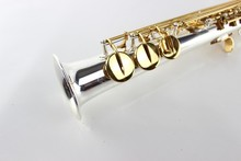 DHL High Pitch Soprano Saxophone B Super Action 80 Series Silver Plating Surface Saxofone Soprano Saxophone