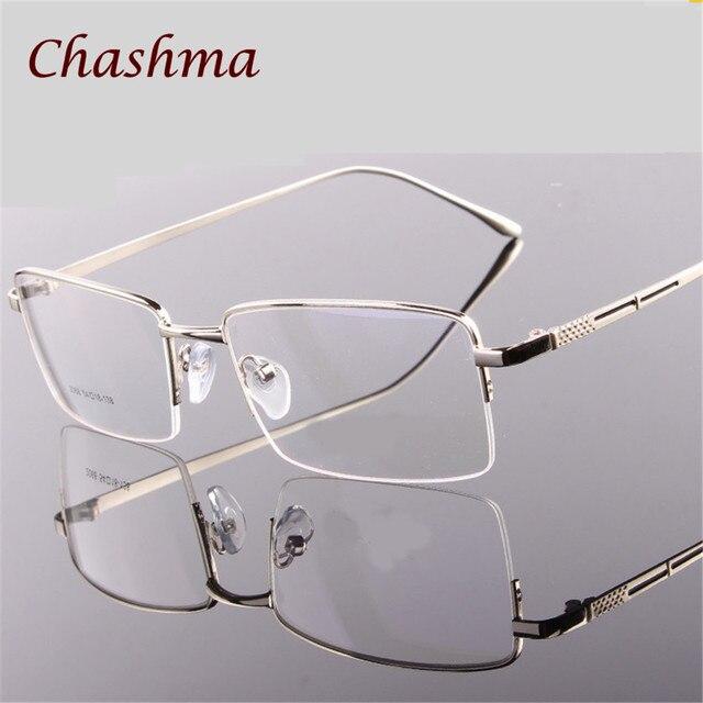 5fb2764adbe3b Chashma Marca Ultra Leve Armações de Óculos de Olho Grande Armação de óculos  para Homens