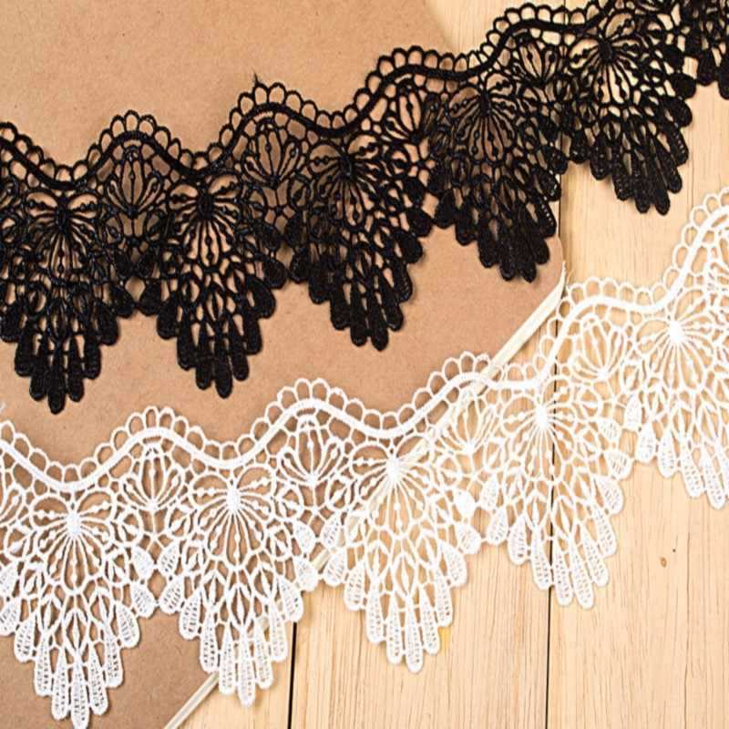 High-quality 5.5cm wavy lace polyester lace embroidery Hot sale