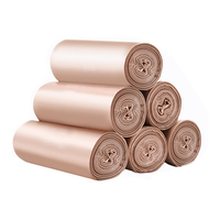 100 PCS Dustbin Liners Heavy Duty Bin Bags Refuse Sacks for Pedal Bin Bags Small Bin Liners (Rose Gold) Rose gold|Kitchen Gadget Sets| |  -