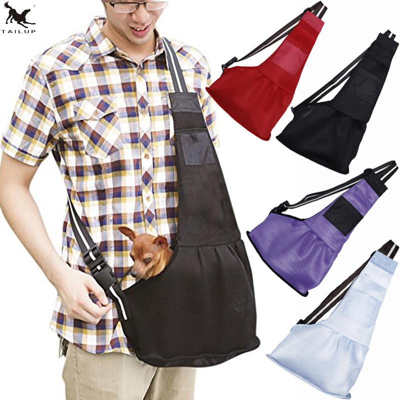[TAILUP] Pet Carrier Bag slings Summer Transpirable Pet Dog Carrier Bag Bolsa de hombro para perro pequeño Puppy Cat Travel BagTote PP026
