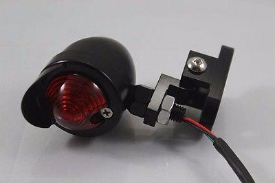 Black Motorcycle Brake Stop Running Tail Light Lamp Cafe Racer Bobber Custom CB