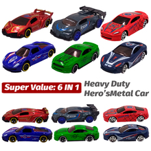 цена на Metal Toy Cars Diecast Toy Vehicles Avengers Super Hero's Mini Alloy Metal Car Model Diecast 1:64 Toy Car for Boys Kids
