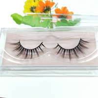 Silk lashes synthetic lashes false 3D lashes Wholesale Private Label hand made false eyelashes real mink fur strip 3d lashes