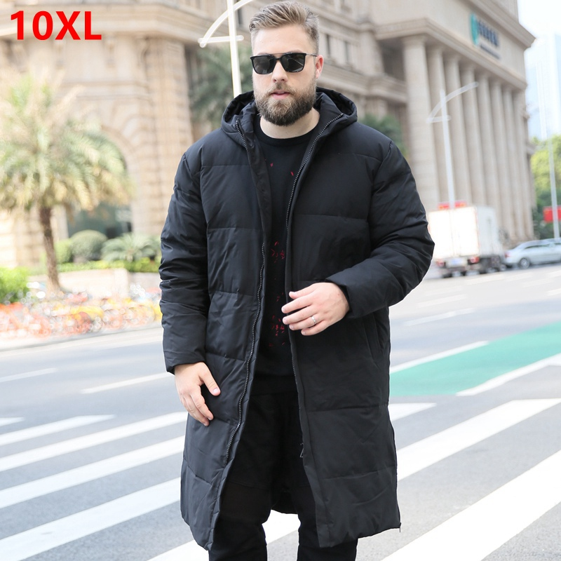 Men's Down Jacket New Men Winter Large Size Hooded Jacket Warm Down Coat 6XL 7XL 8XL 9XL 10XL