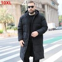 Men's down jacket new men Winter large size hooded jacket warm Down coat 6XL 7XL 8XL 9XL 10XL