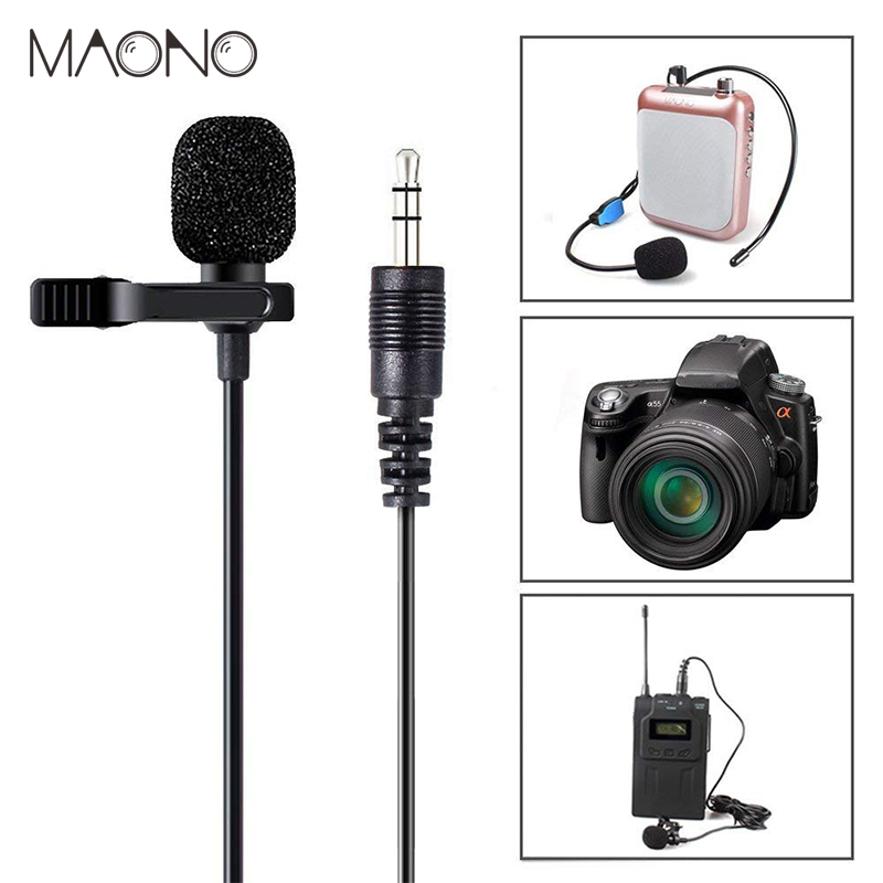 MAONO Lavalier micrófono inteligente condensador omnidireccional Clip-on Lapel micrófono entrevista Vocal micrófono de vídeo para cámara DSLR