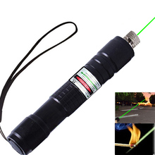 Portable Green laser sight pointer Focus Lazer Sight Hiking Dust-proof pen light Pointers with Star Cap+Charger+Battery