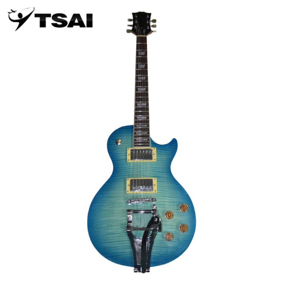 TSAI Shipping From USA Electric Guitar Mahogany Body Rose Wood Neck Maple Fingerboard Guitar Closed Tuner Double Coil Pickups handmade new solid maple wood brown acoustic violin violino 4 4 electric violin case bow included