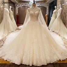 LS78479 wedding dresses turkey corset back beaded crystal ball gown luxury arab wedding dress with long train ivory real photos