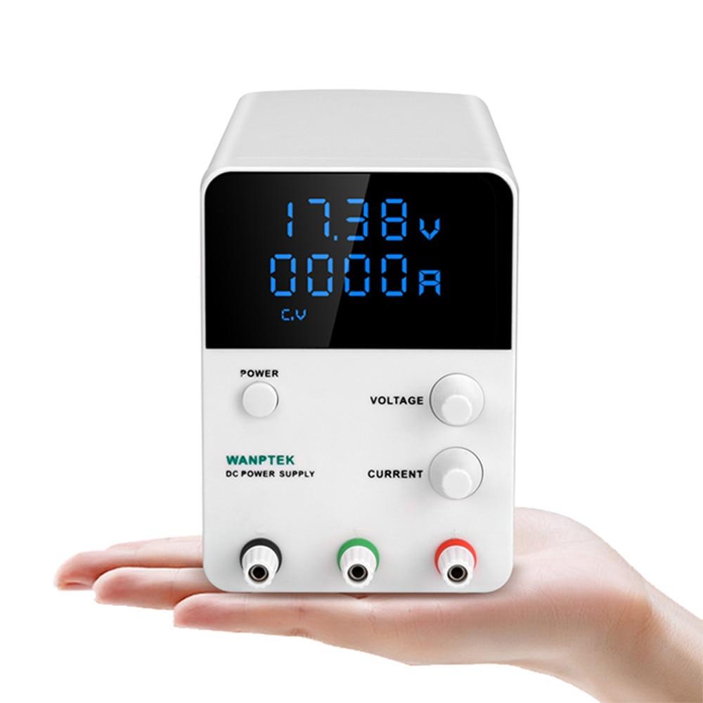 Fuente de alimentación de CC de alta precisión Wanptek potencia regulada ajustable Conmutación Digital mantenimiento voltaje de medición fuente de alimentación-in Fuente de potencia de conmutación from Mejoras para el hogar on AliExpress - 11.11_Double 11_Singles' Day 1