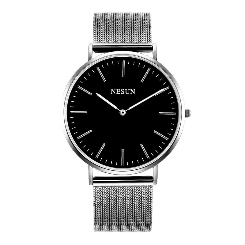 Switzerland Nesun Watch Men & Women Luxury Brand Japan MIYOTA Quartz Movement Lover's Watches Sapphire Waterproof Clock N8801-W2