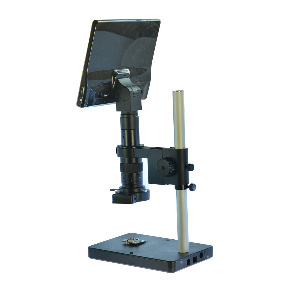HDMI USB Microscope Camera Android System 5.0MP Touch Screen Tablet Digital Microscope Camera+Table Stand+180X C-mount Lens