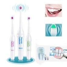 Новая мода Батарея работает Электрические зубные щётки с 3 Кисточки головок Гигиена полости рта Товары для здравоохранения без Перезаряжаемые зуб Кисточки-15
