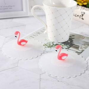 KABOER Lovely Flamingo Reusable Silicone Lids Tea Cup Cover