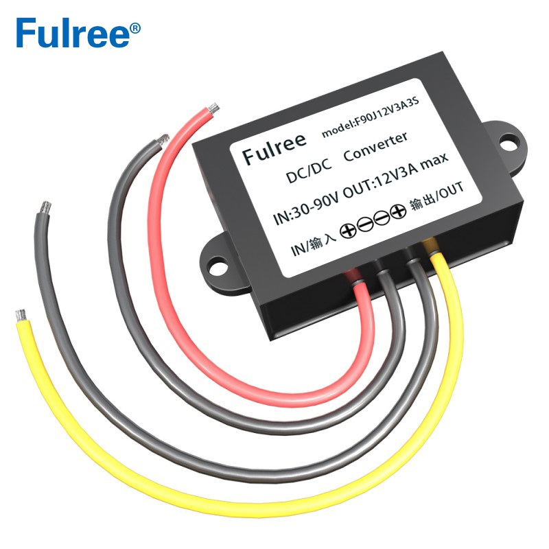 <font><b>80V</b></font> 72V 60V 48V to <font><b>12V</b></font> 3A 5A DC DC Converter 72VDC to 12VDC Voltage Converter Step Down Buck Car Truck Vehicle Power Supply image
