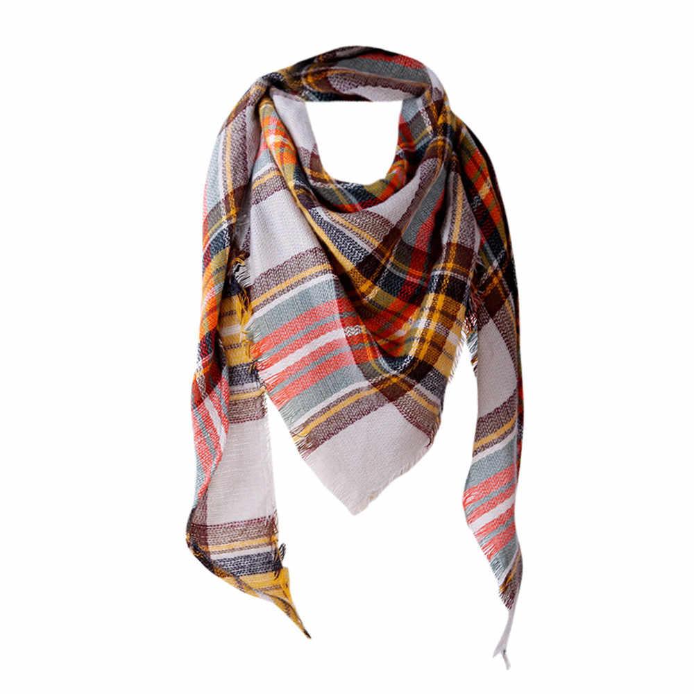 9c466fd108f England style fashion Scarf Women Shawl Cashmere Autumn winter Plaid  Lattice Wool Tassels Scarves poncho Scarf