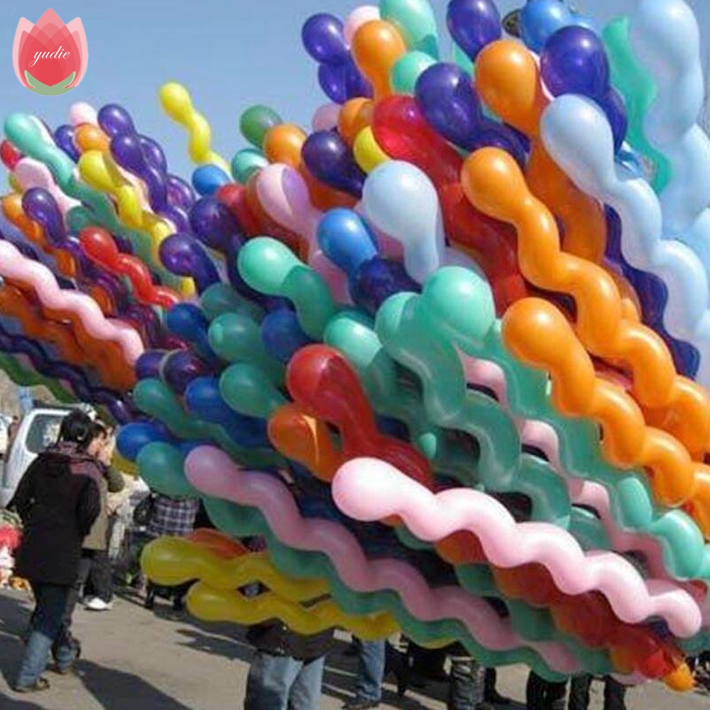 10pcs 36inch 3g/pcs Long Thicken Screw thread Latex balloon Float balls wedding