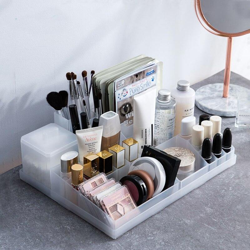 Free combination Makeup Organizer Box Desktop Cosmetic holder Finishing Case Lipstick holder Cosmetics Storage Container