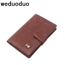 Weduoduo New PU Leather Passport Cover Men Travel Wallet Credit Card Holder Cover Russian Driver License Wallet Document Case new pu leather passport cover holder women men travel credit card holder travel id card document passport holder