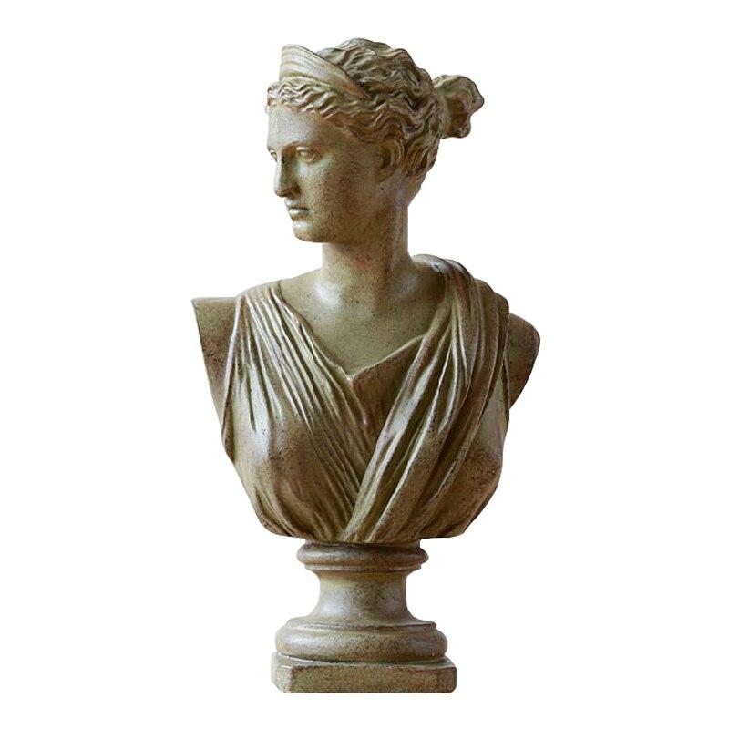 Cabeça americana retratos busto mini estátua de gesso michelangelo buonarroti decoração para casa resina arte & artesanato esboço prática