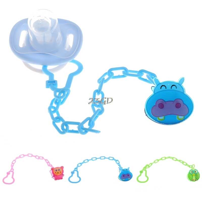 2017 Cute Baby Infant Kids Pacifier Chain Clip Baby Gift  Animal Cartoon Dummy Soother Nipple Holder  JUN8_40